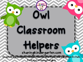 Owl Classroom Helpers