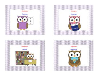 Owl Classroom Jobs-Bilingual Spanish