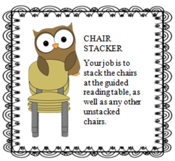 Owl Classroom Jobs with Descriptions
