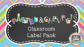 Owl Classroom Labels Pastel and Chevron