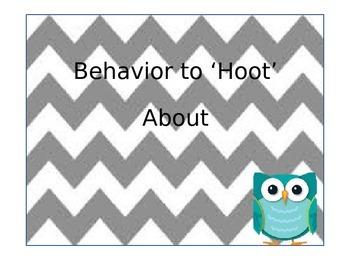 Owl Classroom Management Behavior Chart