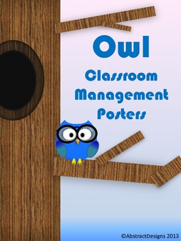 Owl Classroom Management Posters