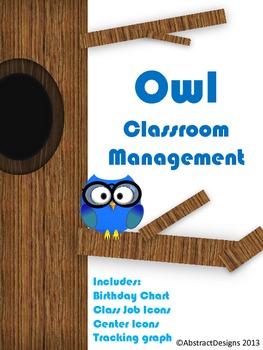 Owl Classroom Management Set