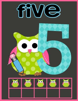 Owl Classroom Number Signs
