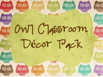 Owl Classroom Pack