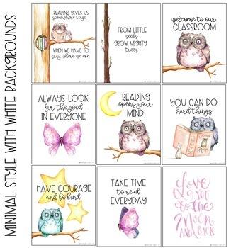 Owl Classroom Poster Set