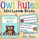 Owl Rules - Editable!