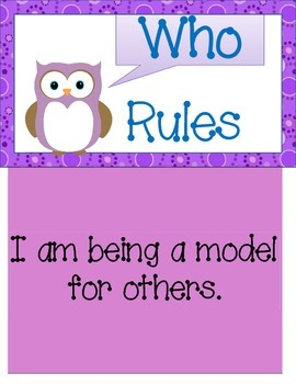 Owl Classroom Rules & Positive Behavior Management Pack