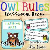 Owl Rules - Editable!