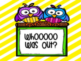 Owl Classroom Signs!!