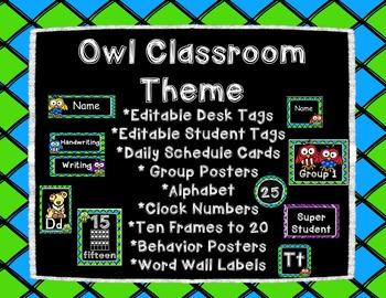Owl Classroom Theme