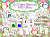 Owl Theme Classroom Decor (editable)