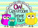 Owl Classroom Theme Pack