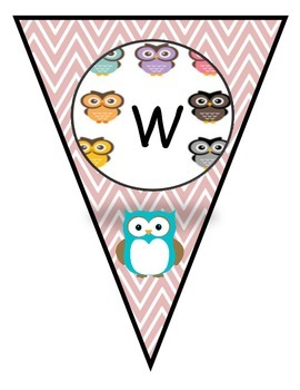 Owl Classroom Theme Pennant