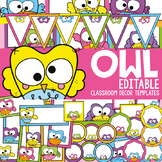 Owl Classroom Decor Templates and Labels