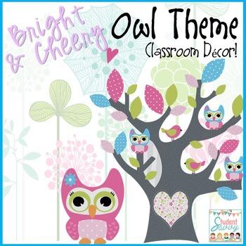 Owl Classroom Decor (Editable)