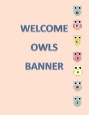 Owl Classroom Welcome Banner