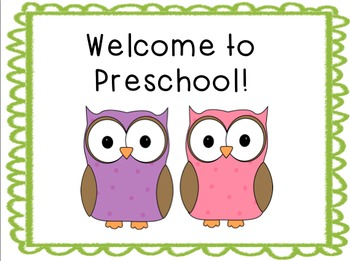 Owl Classroom Welcome Signs