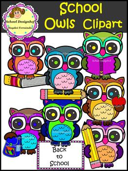 Owl Clip Art - Back to School (School Designhcf)