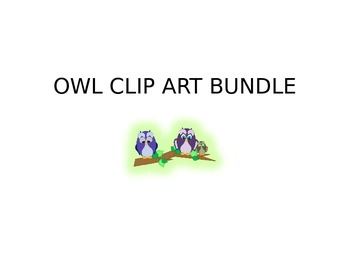 Owl Clip Art Bundle