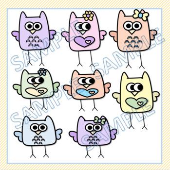 Owl Clip Art Bundle - 70 Images!!