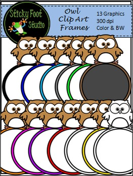 Owl Clip Art Freebie - Circle Frames