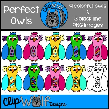 Owl Clip Art Freebie: Personal and Commercial Use