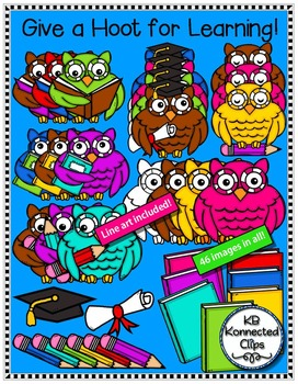 Owl Clip Art - Give a Hoot for Learning!