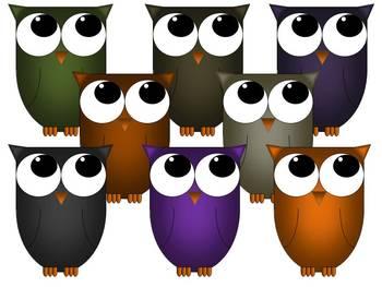 Clip Art - Owl Graphics Autumn Pack