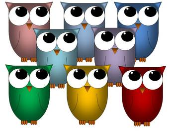 Clip Art - Owl Graphics Pack 1