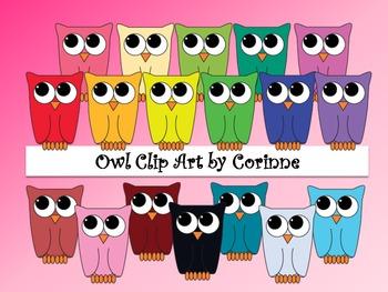 Clip Art - Owl Pack #1