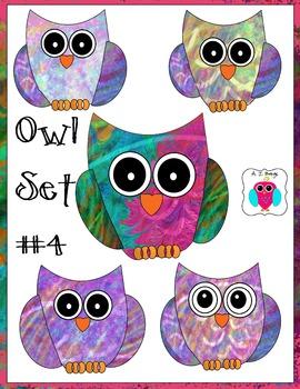 Owl Clip Art Set #4