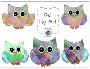 Owl Clip Art Set Number One