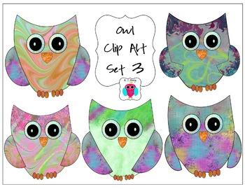 Owl Clip Art Set Number Three