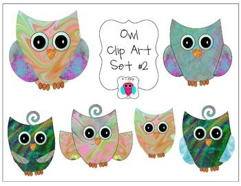 Owl Clip Art Set Number Two