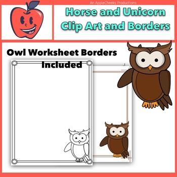 Owl Clip Art and Border Mini Set