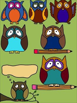 Owl Clip Art for Commercial Use