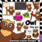 Owl Clip Art with Signs