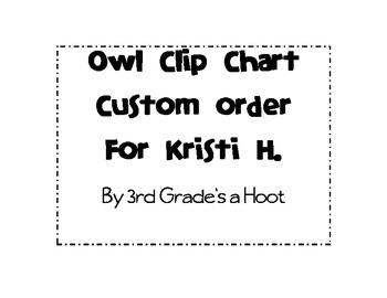 Owl Clip Chart-Custom for Kristi H.
