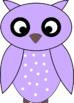 Owl Clipart - 12 colors - 300 dpi