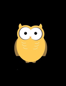 Owl Clipart 18 Total - 6 colors, 3 styles