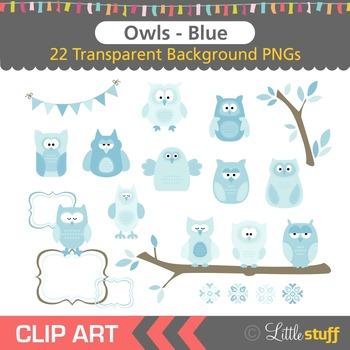 Owl Clipart, Blue Owl Clip Art