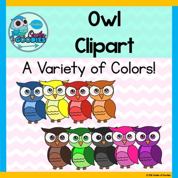 Owl Clipart - Colorful