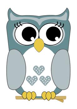Owl Clipart - x 10 Cute Colorful Owls & Super-Owls