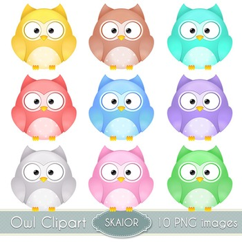 Owl Clipart Digital Owls Clip Art Vector Birds Digital Scrapbooking