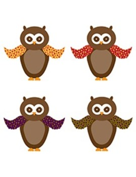 Owl Clipart - Fall Colors