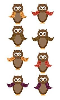 Owl Clipart - Fall Colors