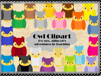 Owl Clipart--- Includes 42 Different Owls!