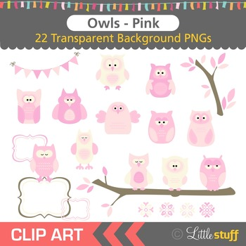 Owl Clipart, Pink Owl Clip Art