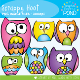 Owl Clipart - Scrappy Hoot - Clipart / Graphics From the Pond